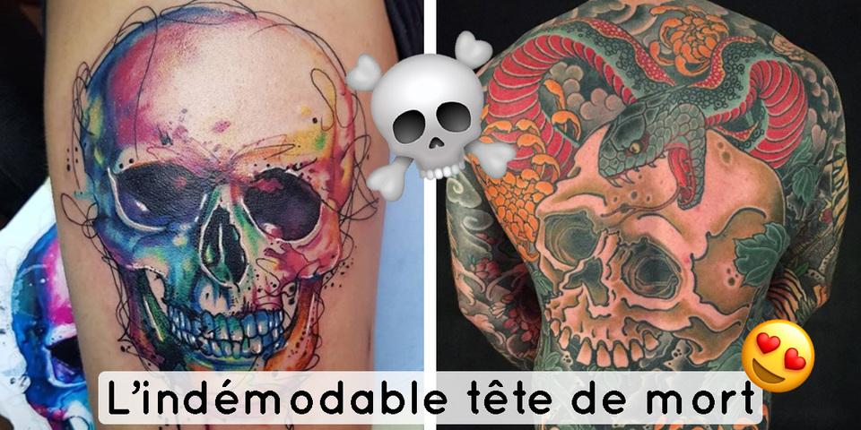 12 tatouages de t te de mort et leur signification. Black Bedroom Furniture Sets. Home Design Ideas