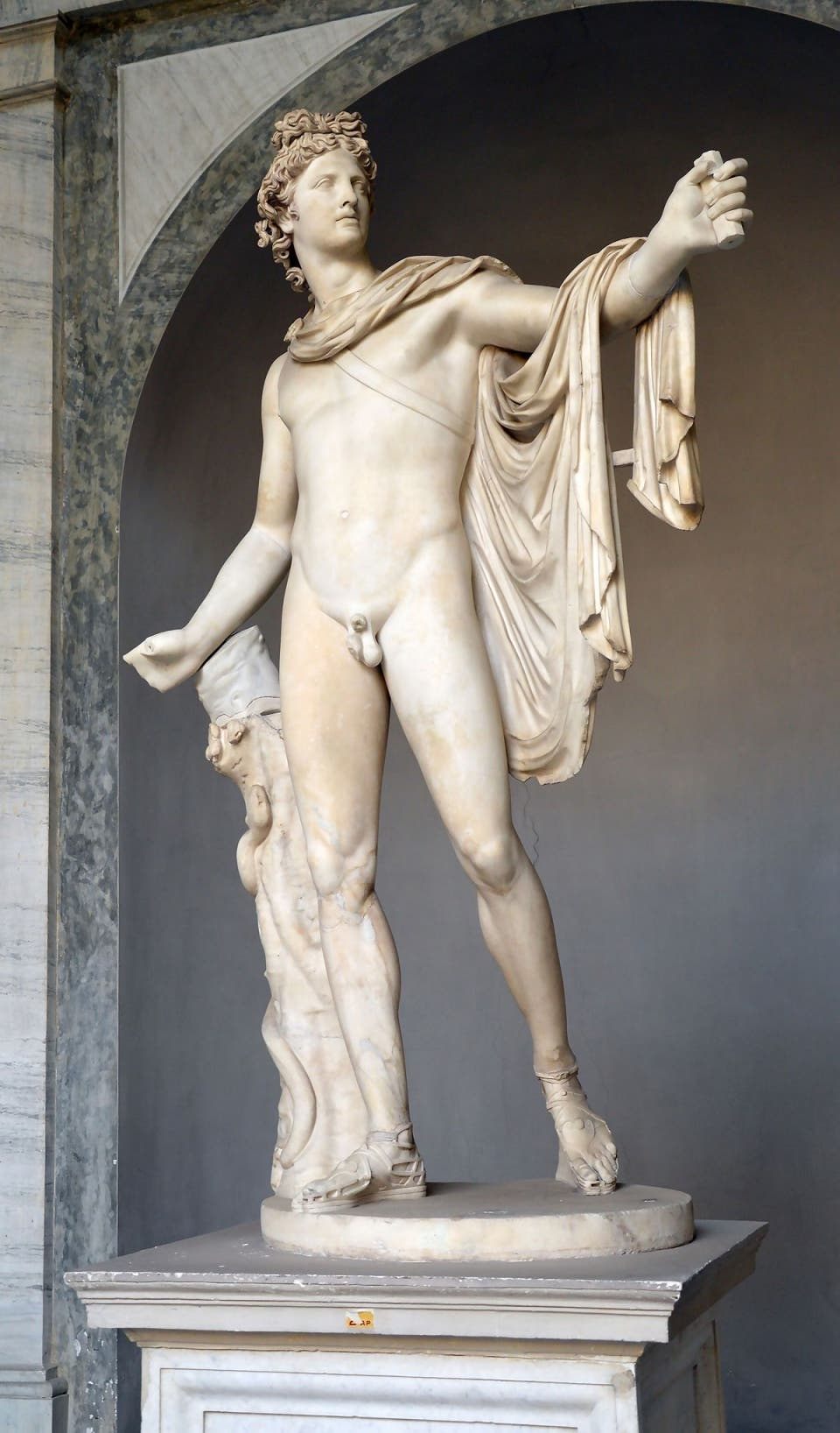 apollon, dieu, statue