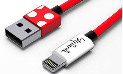 cable, iphone, 7, minnie