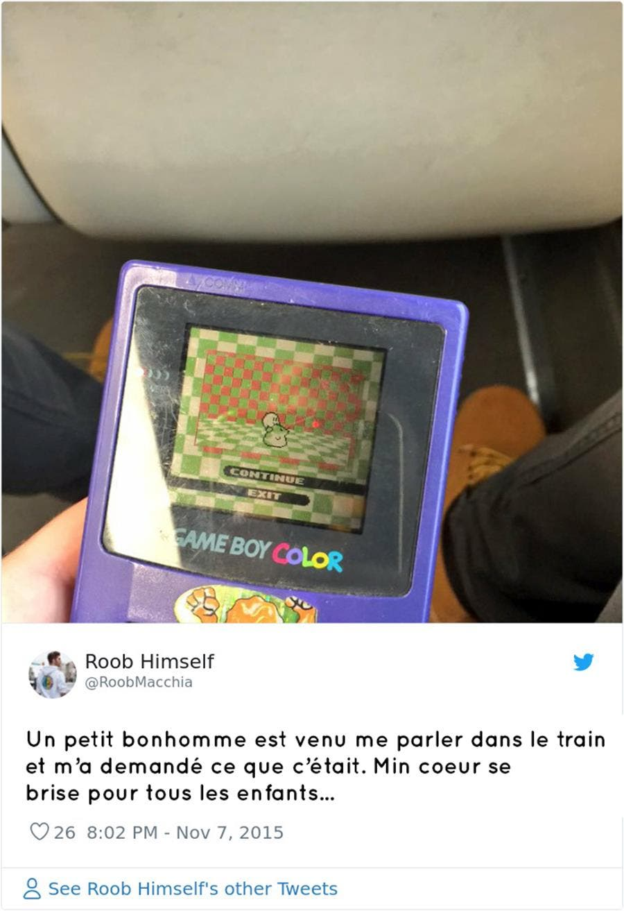 game boy, tweet, enfants