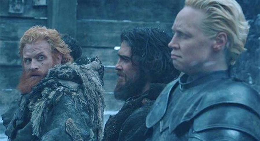 game of thrones, couple, tormund, brienne