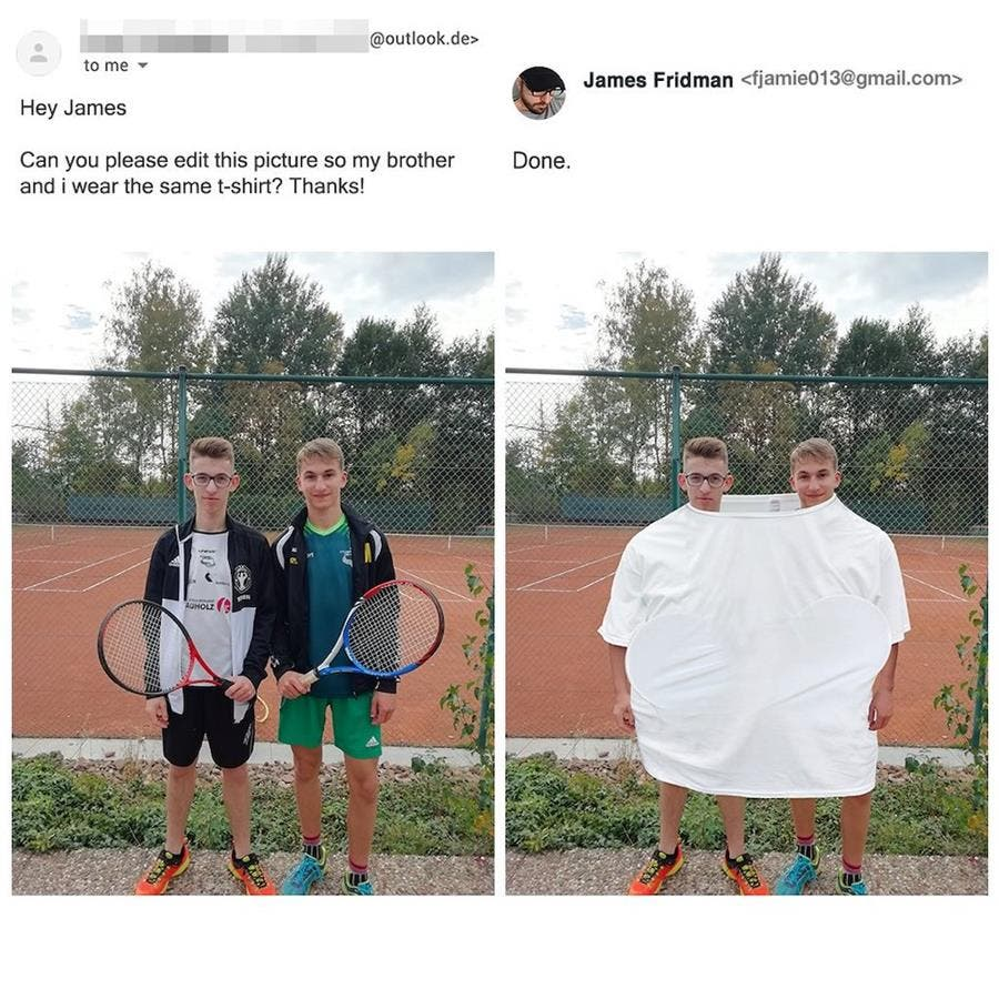 james fridman, retouche, photoshop, frères