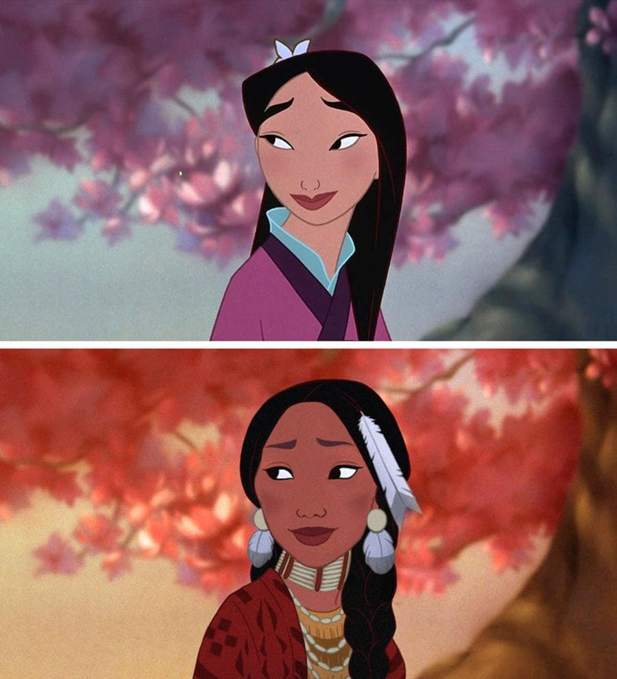 princess, disney, nationality, mulan