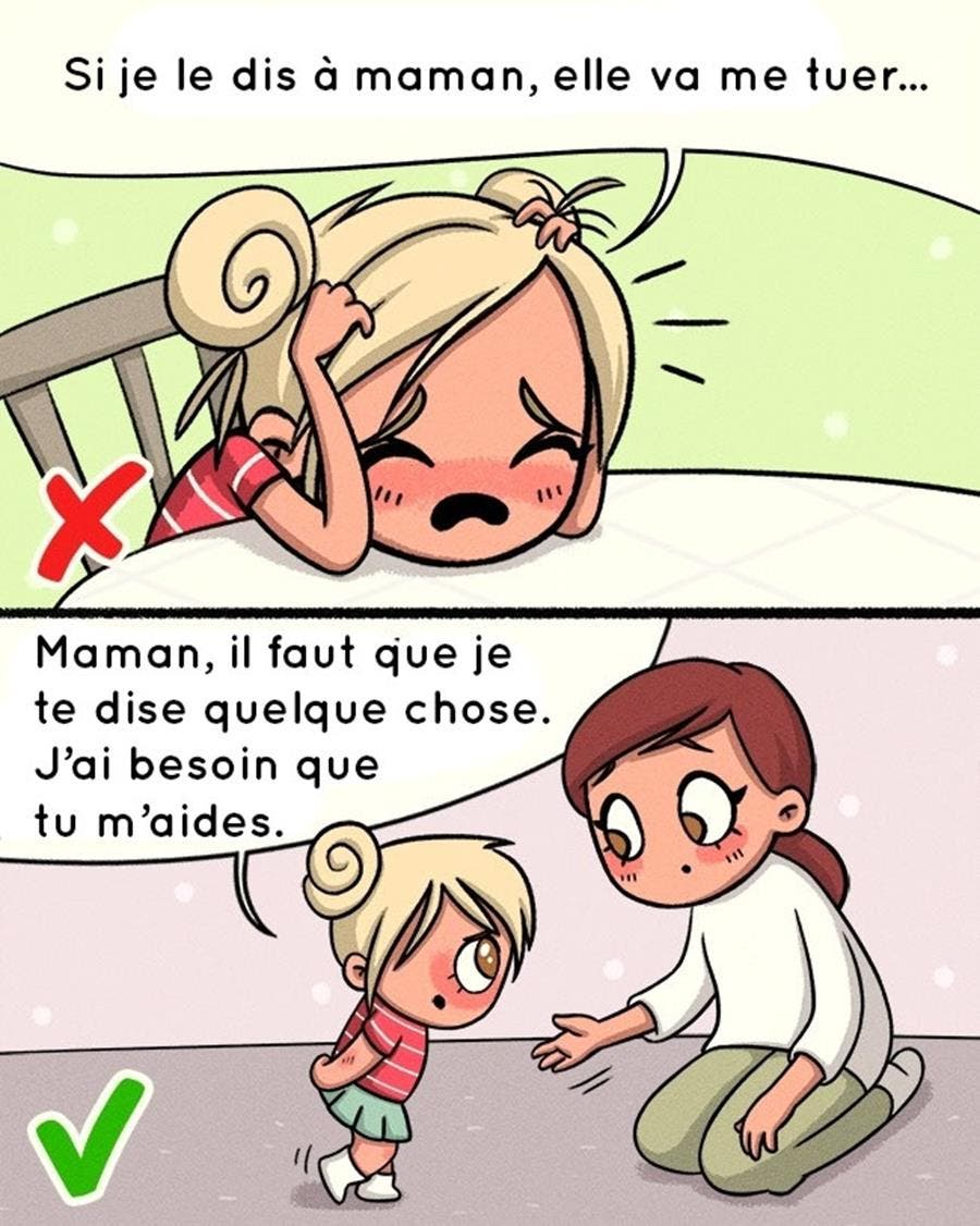 illustration, enfants, choses importantes
