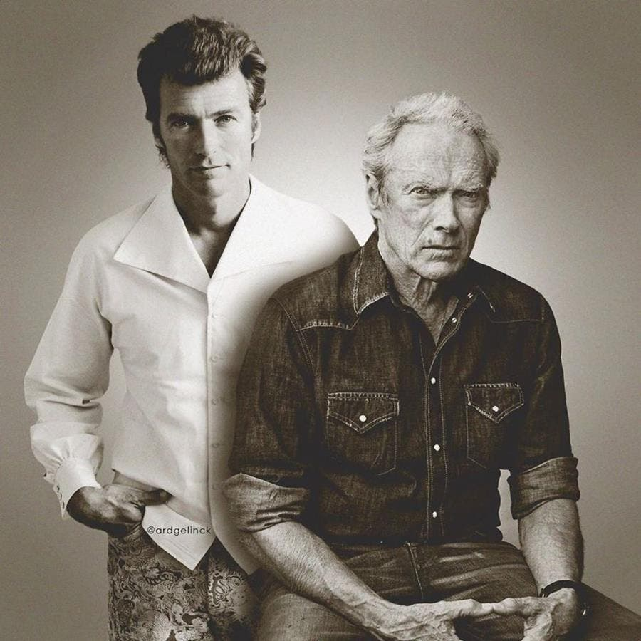 ard gelinck, photo, jeune, clint eastwood