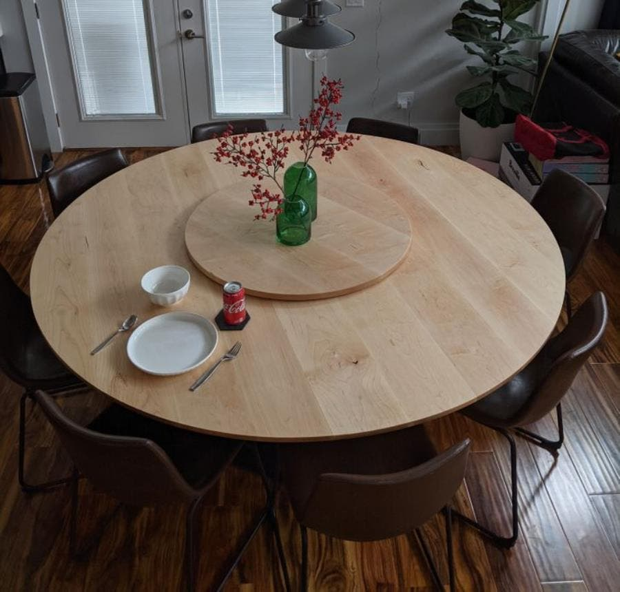 table, cercles