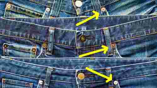 jeans empilés flèche rivets