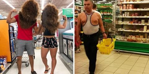 12 rois du supermarché qui font leurs courses...