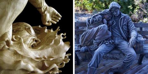 10 sculptures ultra réalistes faites par d'in...
