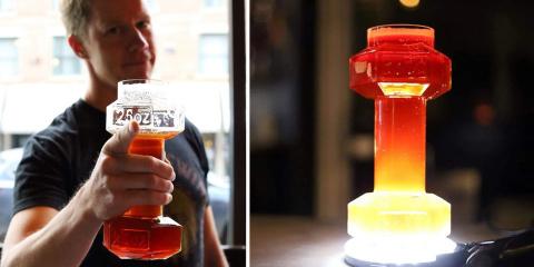 Avec ce verre haltère, développez vos biceps...