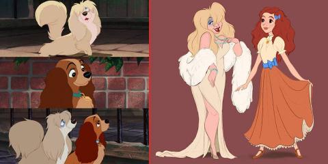 14 personnages de Disney inversés en animaux...