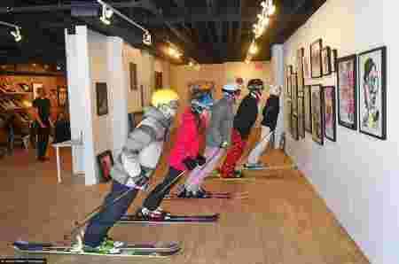 saut à ski, skieur, musée, neige