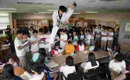 taekwondo, bibliothèque, asiatique