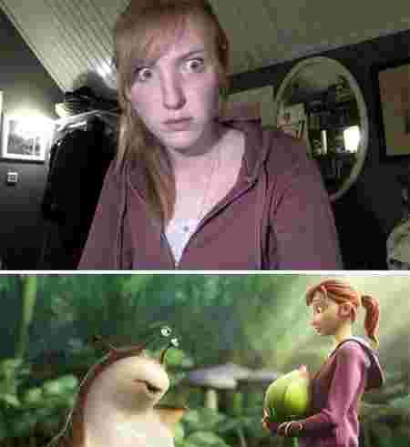 Ressemblance vie réelle et Disney jeune fille Mary-Katherine Epic
