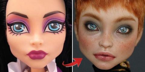 Olga Kamenetskaya modifie des poupées pour le...