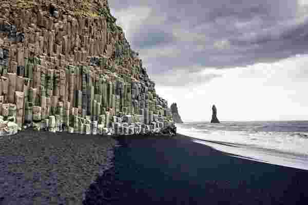 plage, sable, noir