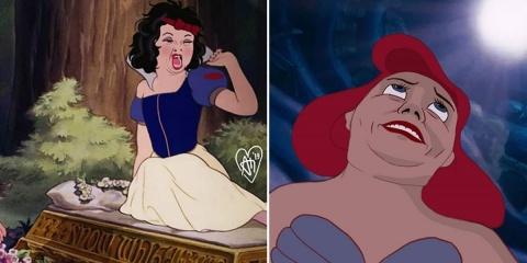 Un artiste montre ce que les princesses Disne...