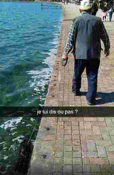 snap promenade chien eau