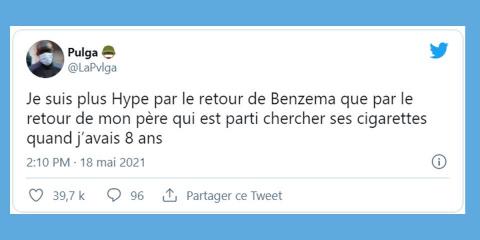 Les 10 meilleurs tweets sur le retour de Benz...