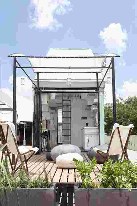 moderne terrasse tiny house