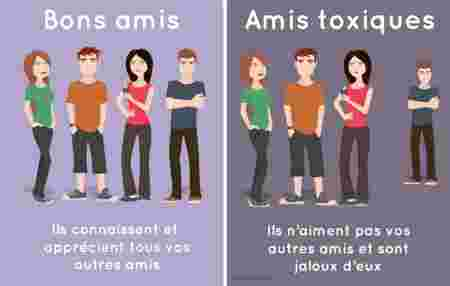 amis sains vs amis toxiques : la jalousie