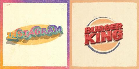 13 logos revisités version rétro par le très...