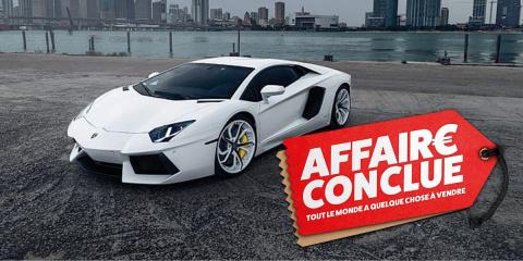 Une Lamborghini à vendre sur le bon coin, pri...
