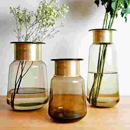 vases cuivre verre