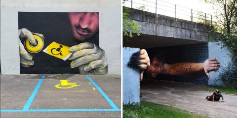 14 oeuvres de street art en 3D qui vont faire...