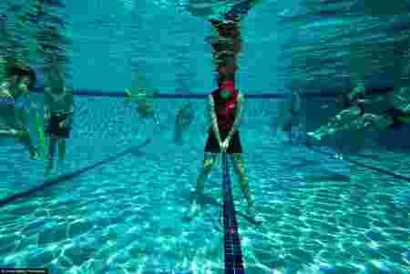 golf, piscine, eau, aquatique