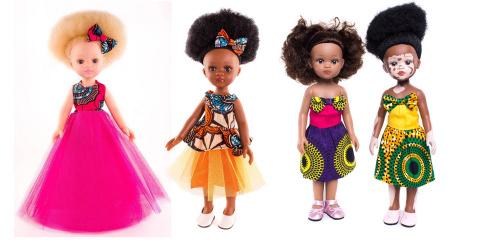 Une marque crée des poupées noires, albinos e...