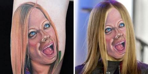 8 tatouages horribles superposés à la réalité