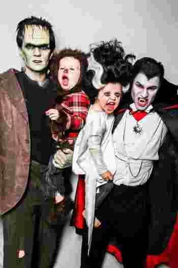 neil, harris, famille, halloween, 2013