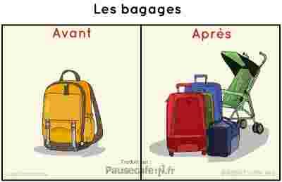 bagages avant parès mariage