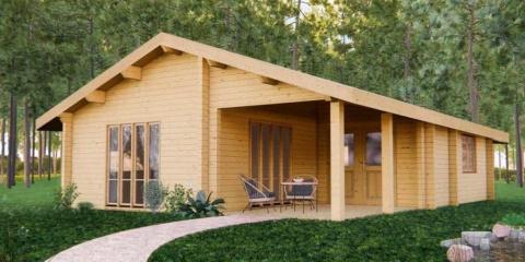 La construction d'une maison en bois résident...