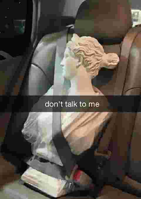 photo,snap,voiture,statue,bouder,humour