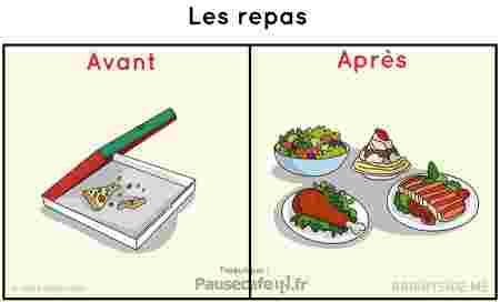 Les repas avant / après le mariage