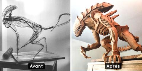 Elle crée de fabuleuses sculptures de personn...