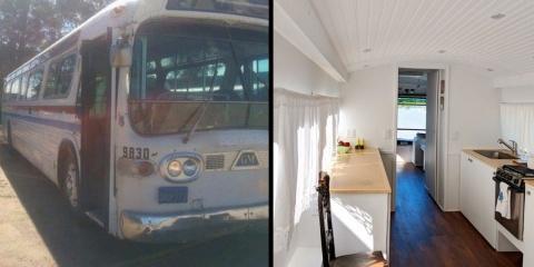 Elle réaménage un vieux bus en une superbe ma...