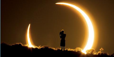 Voici les images de l'éclipse annulaire qui a...
