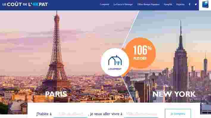 comparaison de prix entre paris et new york