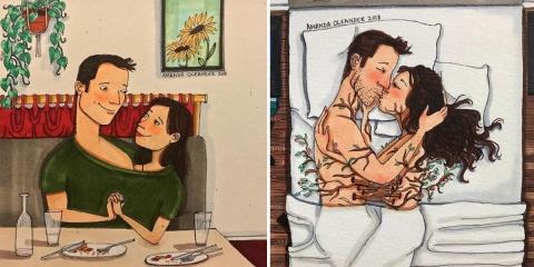Une artiste illustre sa relation amoureuse et...