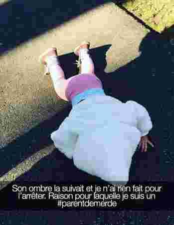 peur ombre enfant par terre chute triste