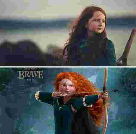 Ressemblance vie réelle et Disney jeune fille Merida Rebelle