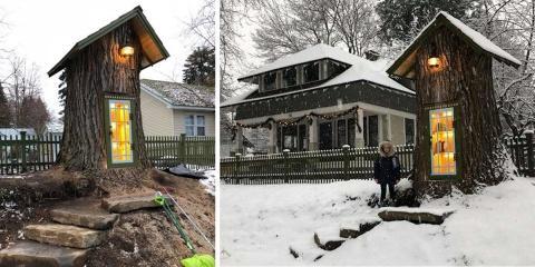Une femme transforme un arbre mort de 110 ans...