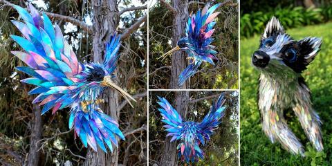 14 sculptures d'animaux magiques entièrement...