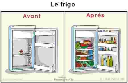frigo avant après mariage