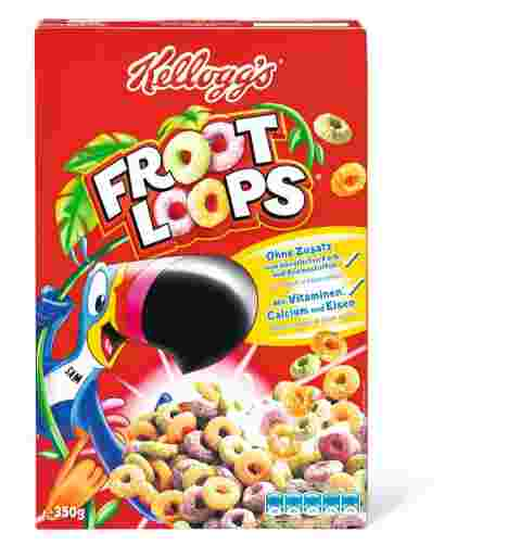 kellogs, cereales, froot, loops