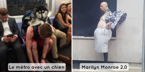 14 photos hilarantes prises dans le métro
