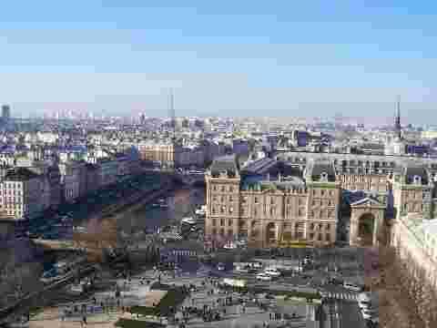 Vue d'ensemble Paris paysage urbain bâtiments